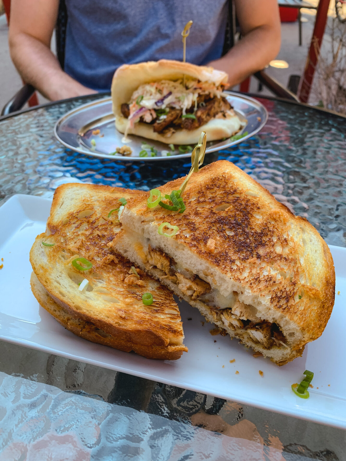 Jerk grilled cheese from The Spice Joint in Jasper, Alberta