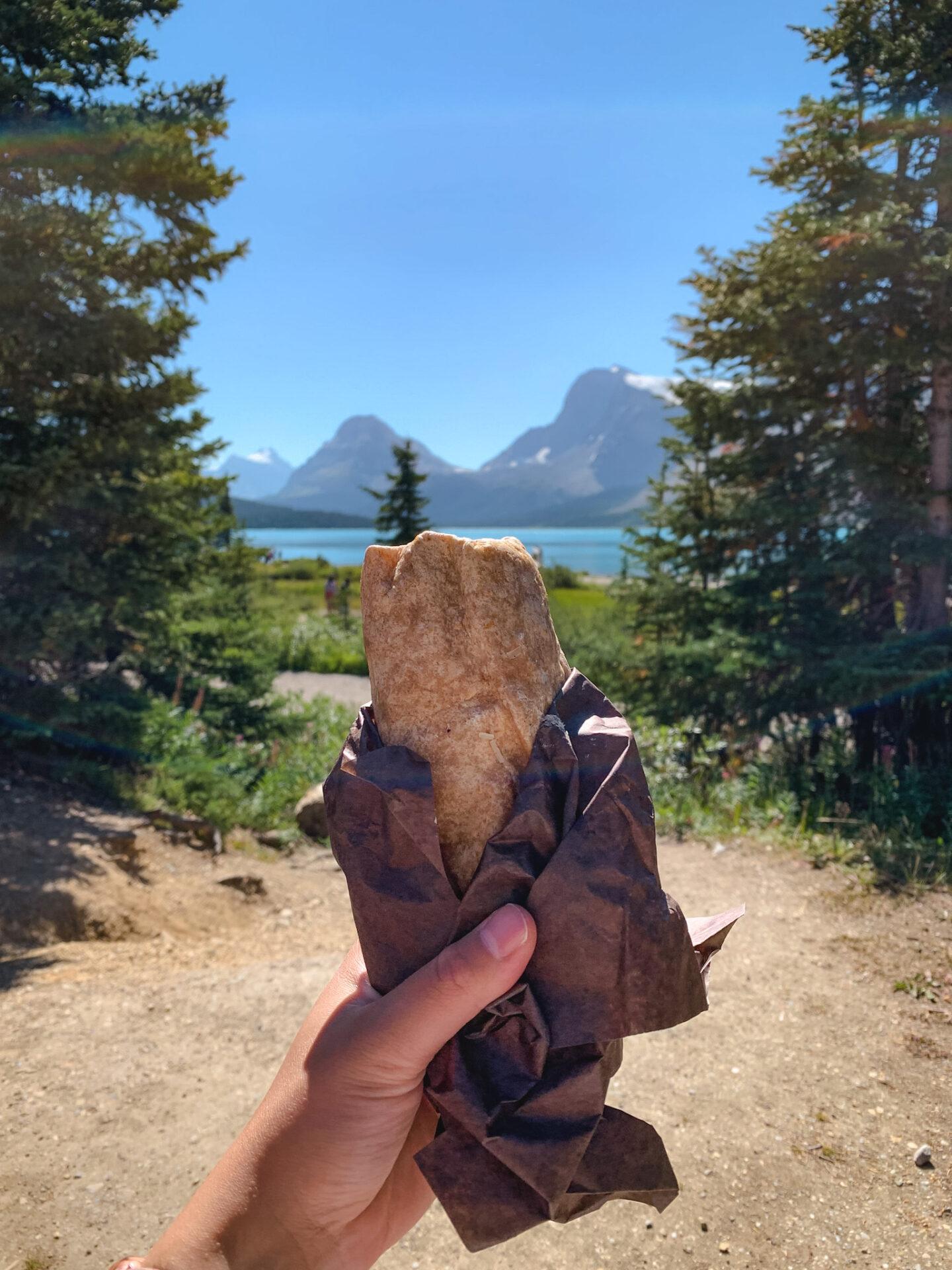 Cajun Chicken Caesar Salad Wrap from Trailhead Café at Bow Lake in Banff, Alberta