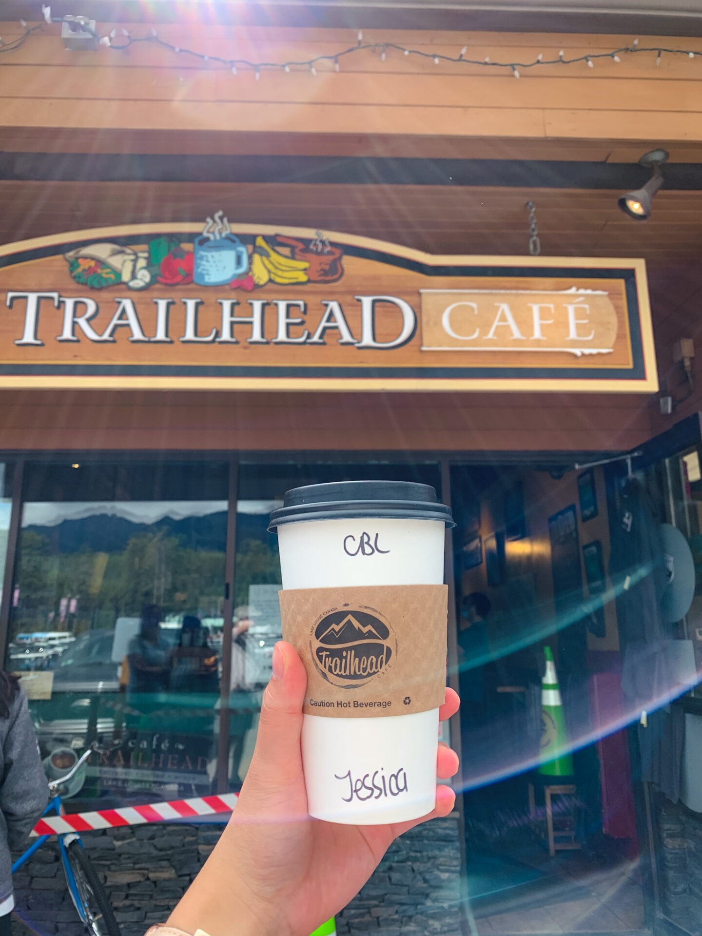 Coffee from Trailhead Cafe in Lake Louise, Alberta