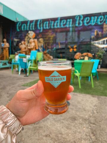 Craft beer from Cold Garden Beverage Company in Calgary, Alberta